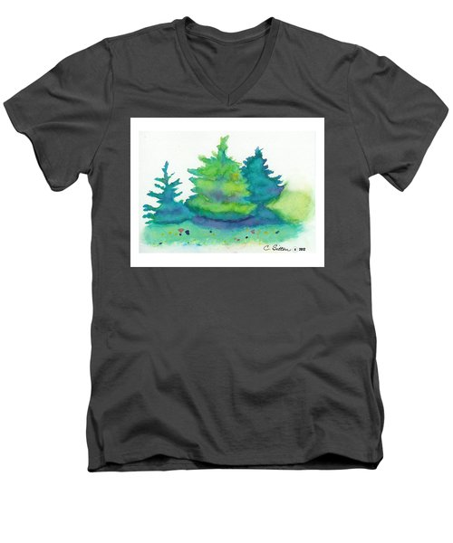 Trees 2 Men's V-Neck T-Shirt by C Sitton