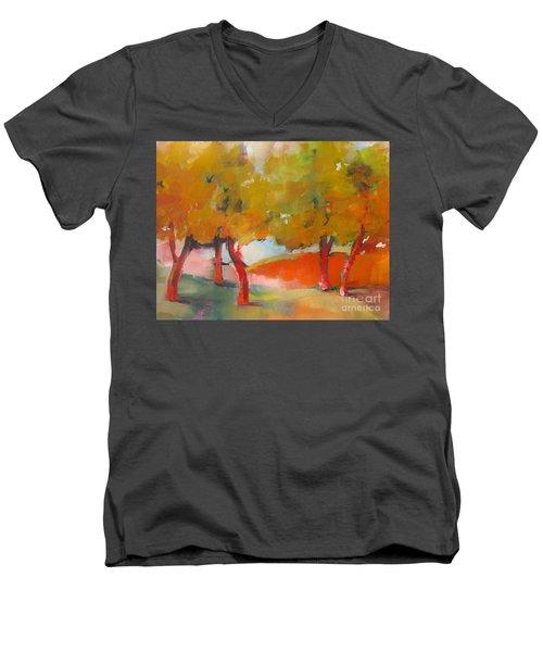 Trees #5 Men's V-Neck T-Shirt by Michelle Abrams