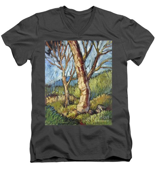 Trees In Spring Men's V-Neck T-Shirt