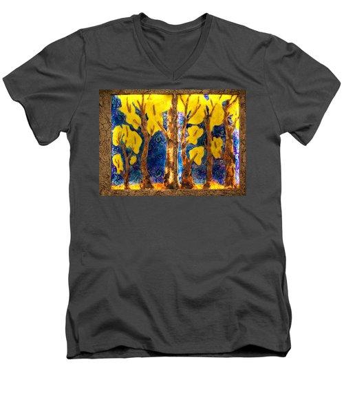 Trees Inside A Window Men's V-Neck T-Shirt