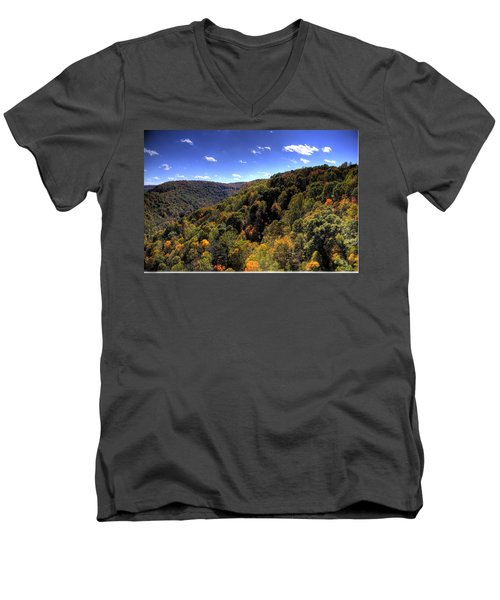 Trees Over Rolling Hills Men's V-Neck T-Shirt