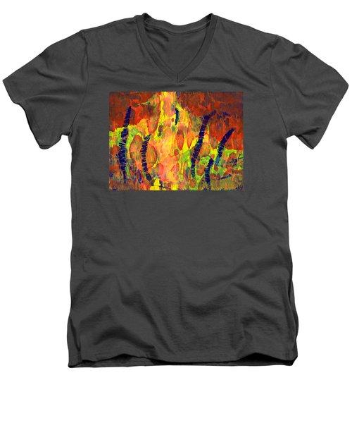 Tribal Essence Men's V-Neck T-Shirt by Lynda Hoffman-Snodgrass