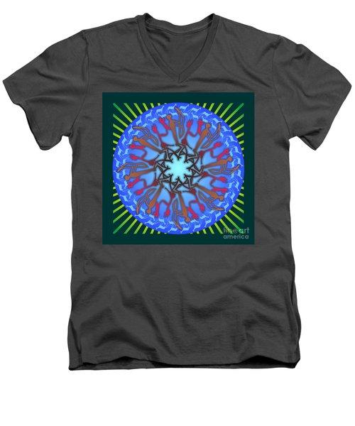 Tribal Hunt And Blessing Men's V-Neck T-Shirt