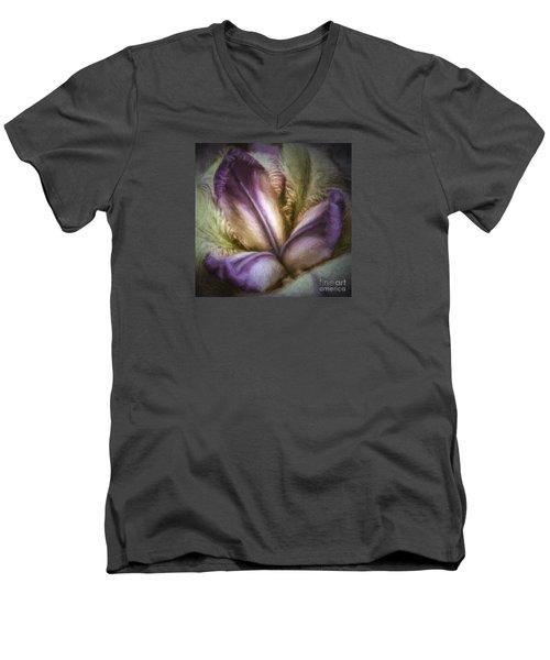 Men's V-Neck T-Shirt featuring the photograph Trinity by Jean OKeeffe Macro Abundance Art