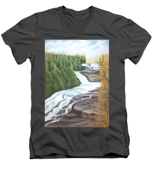 Triple Falls Men's V-Neck T-Shirt