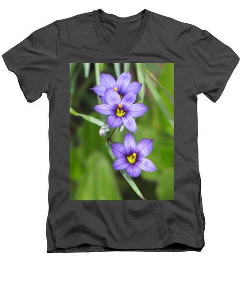 Triple Purple Men's V-Neck T-Shirt