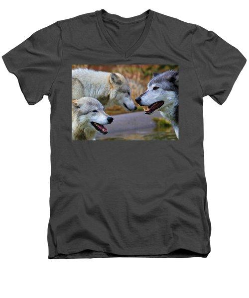 Triple Take Painted Men's V-Neck T-Shirt by Athena Mckinzie