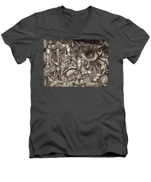 Tripping Through Bogomils Mind Men's V-Neck T-Shirt
