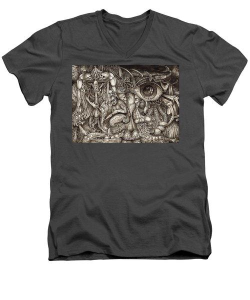 Tripping Through Bogomils Mind Men's V-Neck T-Shirt by Otto Rapp
