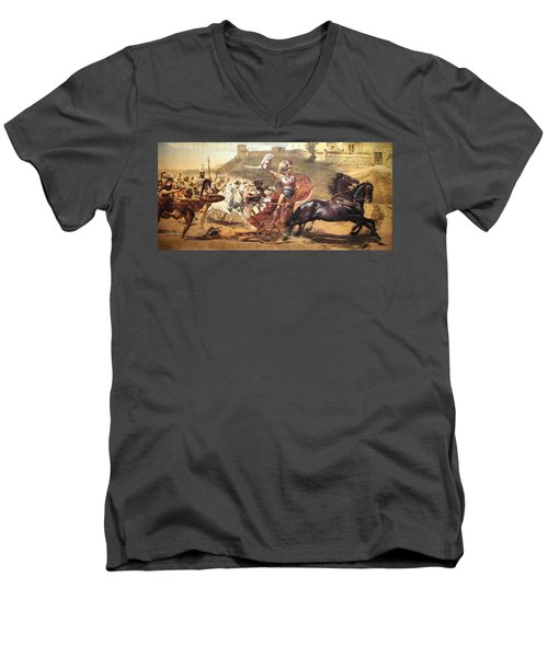 Triumphant Achilles Men's V-Neck T-Shirt