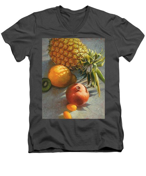 Tropical Fruit Men's V-Neck T-Shirt