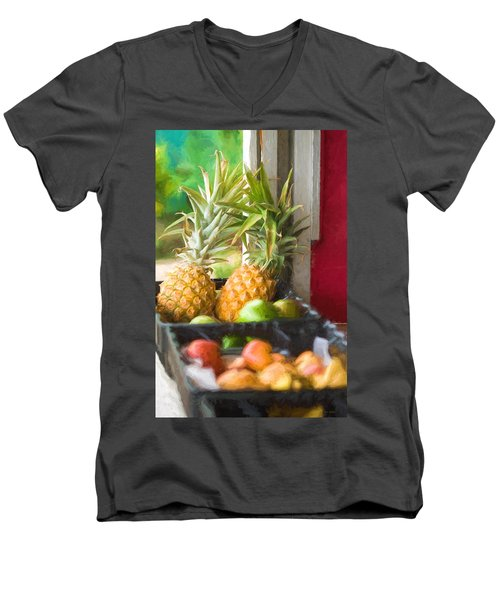 Tropical Fruitstand Men's V-Neck T-Shirt