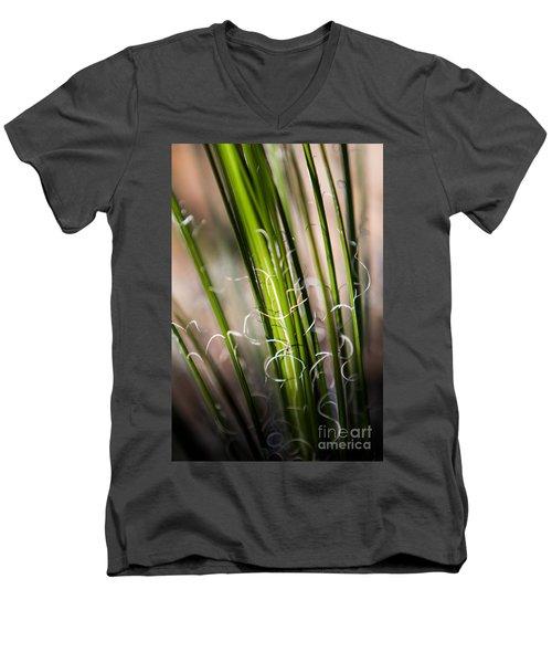Men's V-Neck T-Shirt featuring the photograph Tropical Grass by John Wadleigh