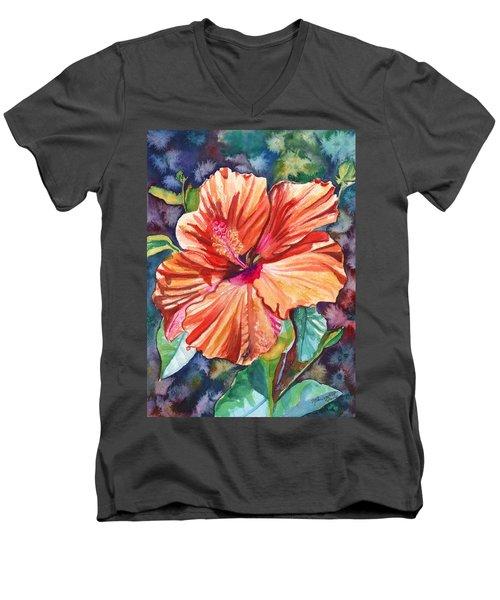 Tropical Hibiscus 5 Men's V-Neck T-Shirt