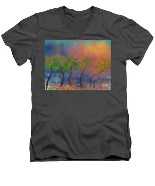 Tropical Sorm On The Way Out Men's V-Neck T-Shirt