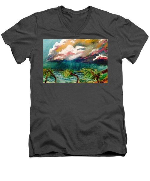 Tropical Storm Men's V-Neck T-Shirt