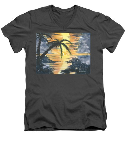 Tropical Sun Men's V-Neck T-Shirt