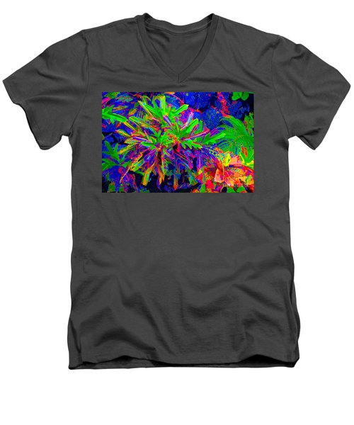 Men's V-Neck T-Shirt featuring the photograph Tropicals Gone Wild by David Lawson