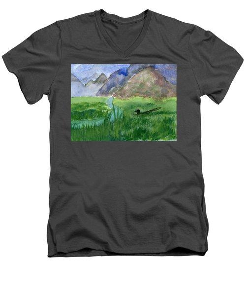 Trout Bum Men's V-Neck T-Shirt
