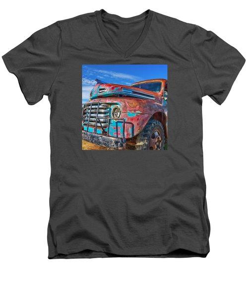 Heavy Duty Men's V-Neck T-Shirt
