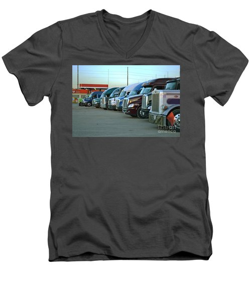 Truck Stop Men's V-Neck T-Shirt