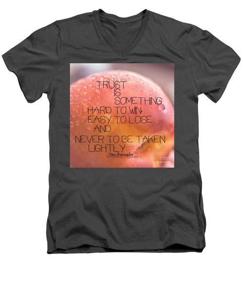 Trust Is Something Men's V-Neck T-Shirt
