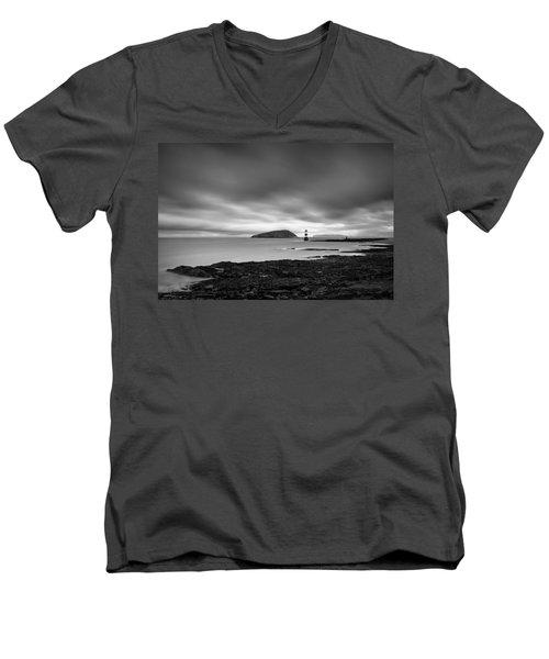 Trwyn Du Lighthouse 1 Men's V-Neck T-Shirt