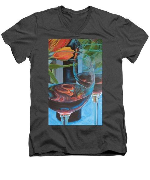 Try Easy Men's V-Neck T-Shirt