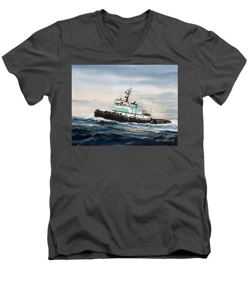 Tugboat Island Champion Men's V-Neck T-Shirt