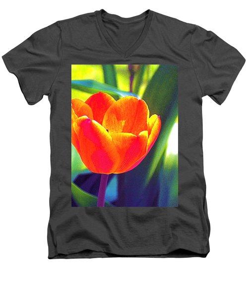 Tulip 2 Men's V-Neck T-Shirt by Pamela Cooper