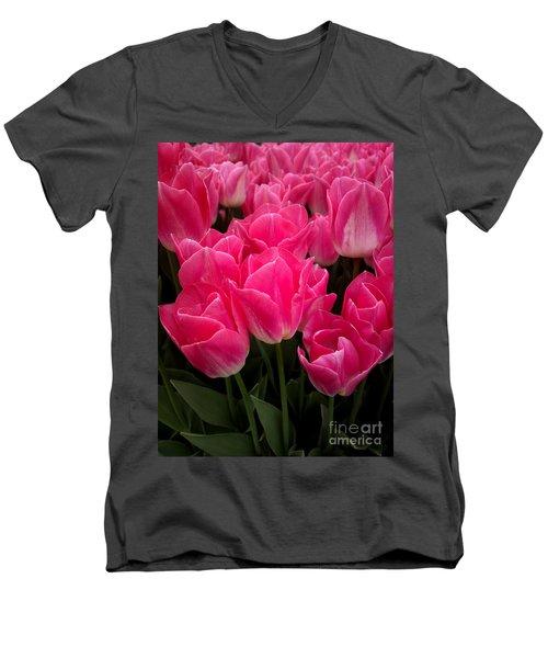 Men's V-Neck T-Shirt featuring the photograph Tulip Festival - 19 by Hanza Turgul
