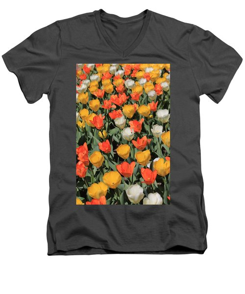 Tulip Stretch Men's V-Neck T-Shirt