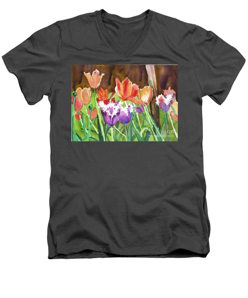 Tulips In Spring Men's V-Neck T-Shirt