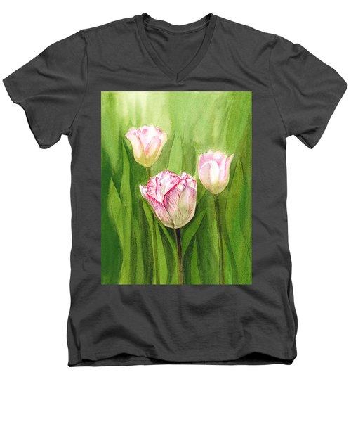 Tulips In The Fog Men's V-Neck T-Shirt