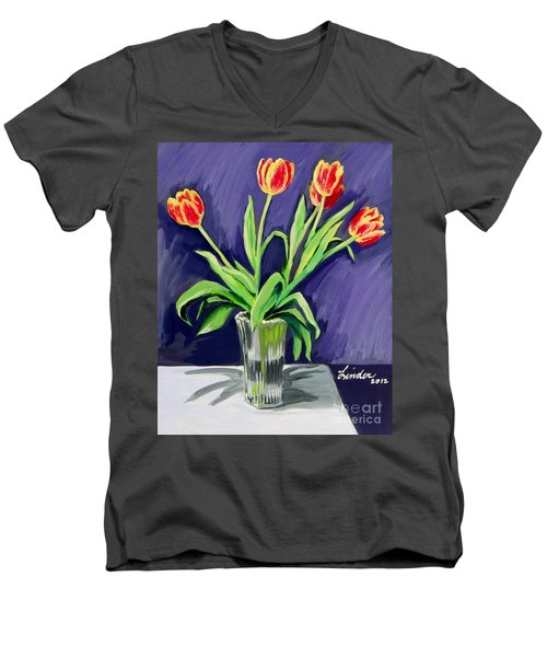 Tulips On The Table Men's V-Neck T-Shirt