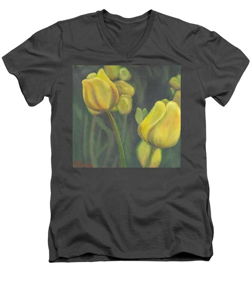 'tulips Stand' Men's V-Neck T-Shirt