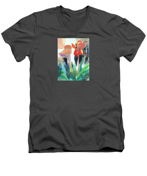 Tulips Together Men's V-Neck T-Shirt by Kathy Braud