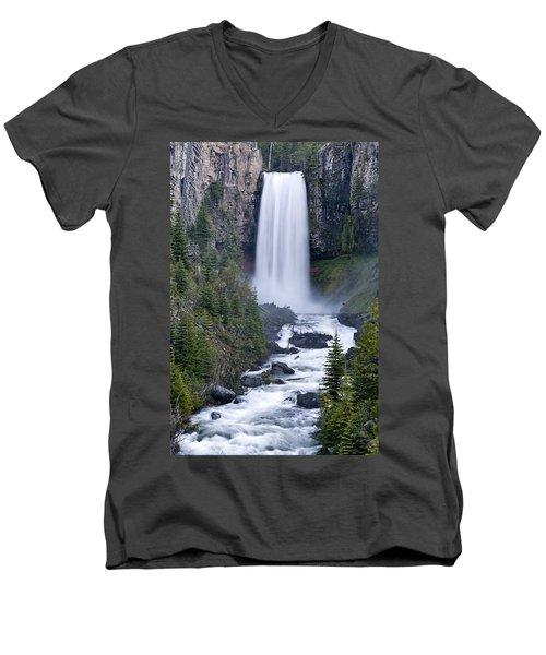 Tumalo Falls Men's V-Neck T-Shirt