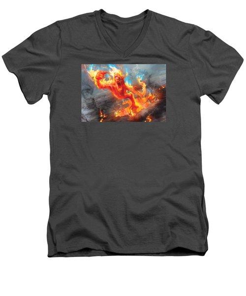 Turn Men's V-Neck T-Shirt