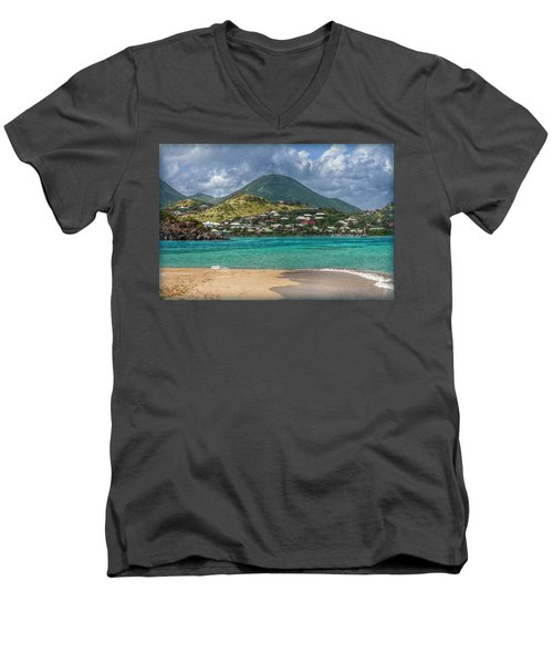 Men's V-Neck T-Shirt featuring the photograph Turquoise Paradise by Hanny Heim