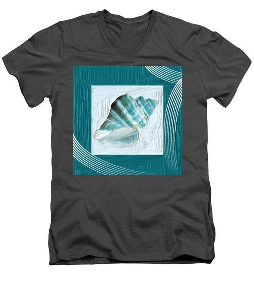 Turquoise Seashells Xxii Men's V-Neck T-Shirt