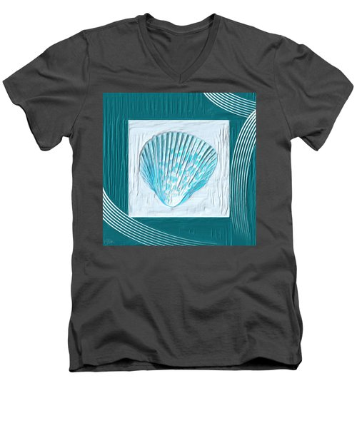 Turquoise Seashells Xxiii Men's V-Neck T-Shirt