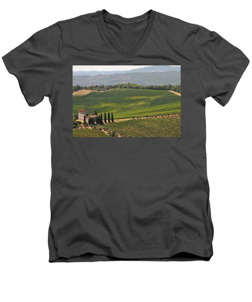 Tuscan Hillside Men's V-Neck T-Shirt