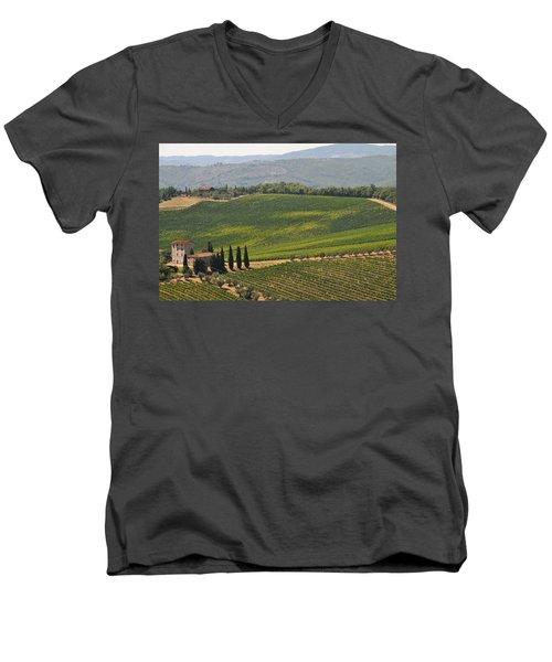 Tuscan Hillside Men's V-Neck T-Shirt
