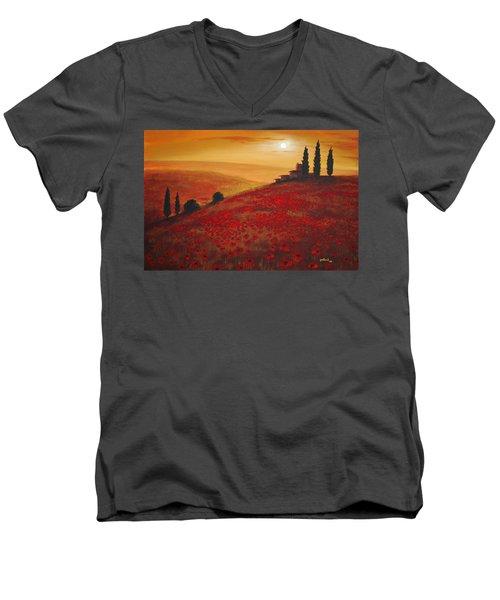 Tuscan Sunset Men's V-Neck T-Shirt