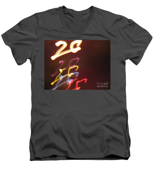 Men's V-Neck T-Shirt featuring the photograph Twenty by Ausra Huntington nee Paulauskaite