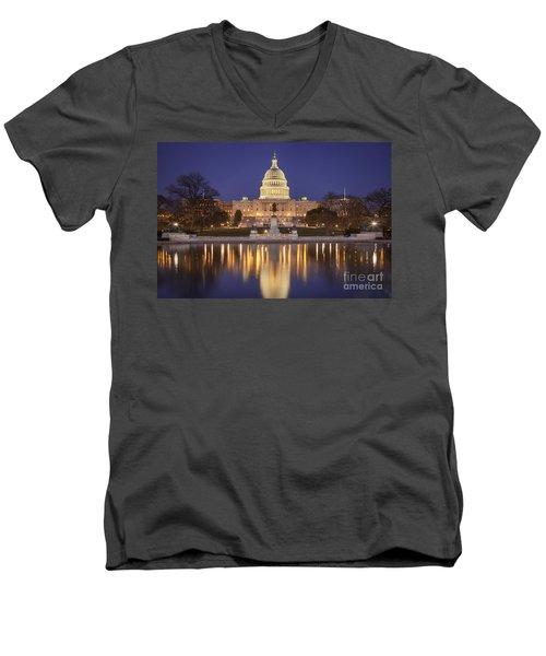 Twilight At Us Capitol Men's V-Neck T-Shirt