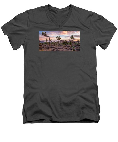 Twilight Comes To Joshua Tree Men's V-Neck T-Shirt