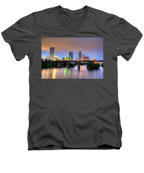 Twilight On The Lake Men's V-Neck T-Shirt