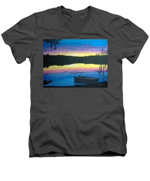 Twilight Quiet Time Men's V-Neck T-Shirt